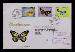 Tropical Butterflies Tropicales Papillons CUBA 1965 Faune Insectes Animals Gc4446 - Papillons