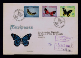 Tropical Butterflies Tropicales Papillons CUBA 1965 Faune Insectes Animals Gc4447 - Papillons