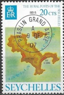 SEYCHELLES 1976 Rural Posts - 20c Map Of Praslin And Postmark MNH - Seychelles (1976-...)