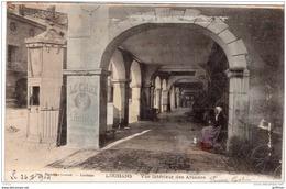 LOUHANS VUE INTERIEUR DES ARCADES PRECURSEUR 1904 TBE - Louhans