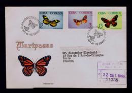 Tropical Butterflies Tropicales Papillons CUBA 1965 Faune Insectes Animals Gc4450 - Papillons