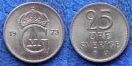 SWEDEN - 25 öre 1973 U KM# 836 Gustav VI Adolf (1950-1973) - Edelweiss Coins - Schweden