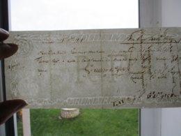 18 7bre 1808 FILIGRANE R F BRUMAIRE AN7 LOI DU 13 BON POUR CACHET DE 3000 A 4000 . 2 FRANCS - Revenue Stamps