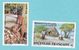 1989, YT  No. 326-327,  Ressources Tradionelles. Le Coprah, MNH - Ungebraucht