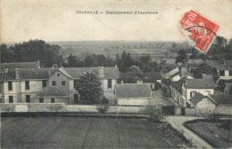 CPA 51 Marne  Courville Etablissement D'Assistance - Francia