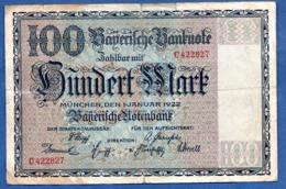 Bayern - 100 Mark  1/1/1922  - état  TB - Zonder Classificatie