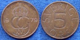 SWEDEN - 5 öre 1979 KM# 849 Carl XVI Gustav (1973) Bronze - Edelweiss Coins - Suecia