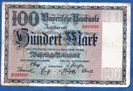 Bayern - 100 Mark  1/1/1922  - état  TB- - Zonder Classificatie