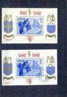 Nrs. Blok 18 Postgaaf ** MNH Zeer Mooi + Gestempeld   ORVAL - Bloques 1924 – 1960