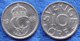 SWEDEN - 10 öre 1988 U KM# 850 Carl XVI Gustav (1973) - Edelweiss Coins - Suecia