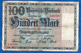 Bayern - 100 Mark  1/1/1922  - état  B - Zonder Classificatie