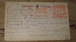 Carte Postal VALENCIA 1937 : VISADO CENSURA MILITAR .................... OE-4608 - Marques De Censures Républicaines