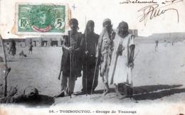 Cpa (mali)--tombouctou - Groupe De Touaregs .. - Malí