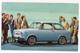 Voiture   FIAT  850 (animée)  -- Carte Publicitaire - Passenger Cars