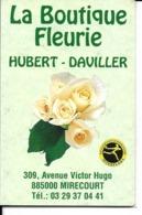88 - Mirecourt - Calendrier De Poche Publicitaire - Boutique Fleurie Daviller - Calendriers