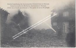 GROOTE BRANDRAMP ANTWERPSCHE OLIEFABRIEKEN 1910 MERXEM MERKSEM ZICHT VANAF ST JOZEFSTRAAT INCENDIE HUILERIES ANVERSOISES - Antwerpen