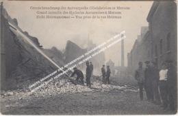 GROOTE BRANDRAMP DER ANTWERPSCHE OLIEFABRIEKEN 1910 MERXEM MERKSEM ZICHT HEIRMANSTRAAT / INCENDIE HUILERIES ANVERSOISES - Antwerpen