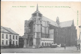 Diest; Hotel Du Progrès. L'hotel De Ville Et L'église De St. Sulpice. - Diest