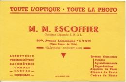 BUVARD BLOTTING PAPER COMMERCE OPTIQUE PHOTO ESCOFFIER OPTICIENS LYON 69 - Buvards, Protège-cahiers Illustrés