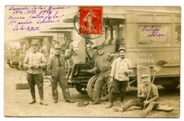 Schneider PB2 CGO Camion Atelier Parc Automobile 1ere Armée Française 1916 Compagnie Générale Omnibus Première Guerre - Guerra, Militares