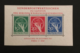 BERLIN - 1949 Block 1 - Neuf Avec Charnière * - Cote 600EUR - Waehrungsgeschaedigten - [5] Berlino