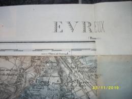 Carte Topographique De Evreux (Reuilly - Autheuil - Hardencourt - Aigleville - Guichainville - Aulnay) - Cartes Topographiques