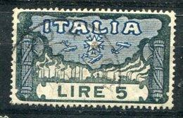 ITALIA-  1923 - MARCIA SU ROMA Da Lire 5 = Valore Catalogo € 29 - 1900-44 Vittorio Emanuele III