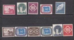 NATIONS  UNIES  NEW-YORK  1951      N° 1 à 11    NEUFS**   CATALOGUE YVERT&TELLIER - New-York - Siège De L'ONU