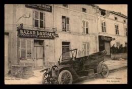 55 - LEROUVILLE - RUE NATIONALE - AUTOMOBILE ANCIENNE DEVANT LE BAZAR LORRAIN - EDITEUR JURY-THIRION - Lerouville