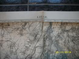 Carte Topographique De Liège - Luik (Liers - Milmort - Aubel - Herve - Verviers - Olne - Embourg) - Topographical Maps