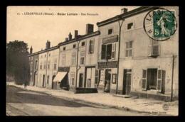 55 - LEROUVILLE - RUE NATIONALE - LE BAZAR LORRAIN JURY-THIRION EDITEUR DE CARTES POSTALES - Lerouville