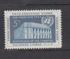NATIONS  UNIES  NEW-YORK  1952      N° 12    NEUF**   CATALOGUE YVERT&TELLIER - New-York - Siège De L'ONU