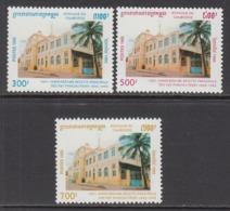 1995 Cambodia Post Office Architecture Complete Set Of 3 MNH - Cambodia