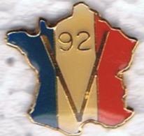 CARTE DE FRANCE - V De La Victoire 92 - Politique? - Pin's