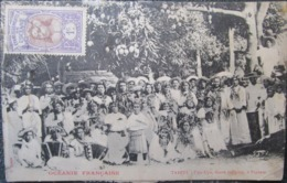 Tahiti Cpa Upa Upa Danse Papeete  Timbrée  Etablissements  De L'oceanie - Frans-Polynesië