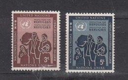 NATIONS  UNIES  NEW-YORK  1953      N° 15-16    NEUFS**   CATALOGUE YVERT&TELLIER - New-York - Siège De L'ONU