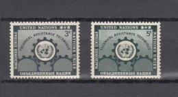 NATIONS  UNIES  NEW-YORK  1953      N° 19-20    NEUFS**   CATALOGUE YVERT&TELLIER - New-York - Siège De L'ONU