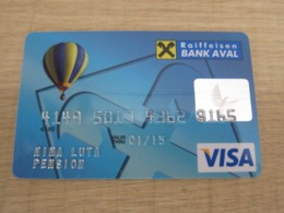 Raiffeisen Bank Aval,invalided VISA Card, Hot Balloon - Telefonkarten
