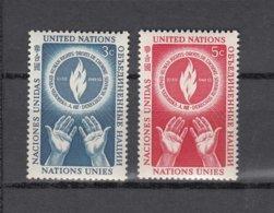 NATIONS  UNIES  NEW-YORK  1953      N° 21-22    NEUFS**   CATALOGUE YVERT&TELLIER - New-York - Siège De L'ONU