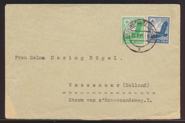 D. Reich Brief MIF Flugpost Steinadler Niedersedlitz Nach Wassenaar Niederlande - Deutschland