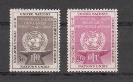 NATIONS  UNIES  NEW-YORK  1954      N° 27-28    NEUFS**   CATALOGUE YVERT&TELLIER - New-York - Siège De L'ONU