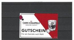Casino Schaanwald Liechtenstein, Gutschein Für Ein Getränk  ( 1 - Alte Papiere
