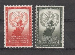 NATIONS  UNIES  NEW-YORK  1954      N° 29-30    NEUFS**   CATALOGUE YVERT&TELLIER - New-York - Siège De L'ONU