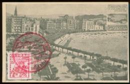 Tarjeta Postal. Exposición Filatélica Nacional. SAN SEBASTIAN 1948 - Guipúzcoa (San Sebastián)