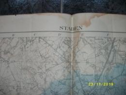 Topografische / Stafkaart Van Staden (Houthulst - Poelkapelle) - Cartes Topographiques