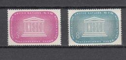 NATIONS  UNIES  NEW-YORK  1955      N° 33-42    NEUFS**   CATALOGUE YVERT&TELLIER - New-York - Siège De L'ONU