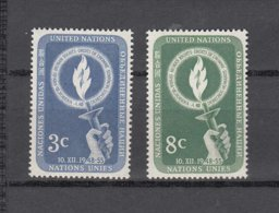 NATIONS  UNIES  NEW-YORK  1955      N° 38-39    NEUFS**   CATALOGUE YVERT&TELLIER - New-York - Siège De L'ONU