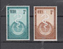 NATIONS  UNIES  NEW-YORK  1956      N° 42-43    NEUFS**   CATALOGUE YVERT&TELLIER - New-York - Siège De L'ONU
