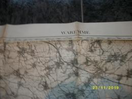 Carte Topographique De Waremme - Borgworm (Wansin - Montenaken - Borlez - Horion - Warnant - Ciplet - Burdinne) - Cartes Topographiques