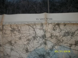 Carte Topographique De Waremme - Borgworm (Wansin - Montenaken - Borlez - Horion - Warnant - Ciplet - Burdinne) - Carte Topografiche